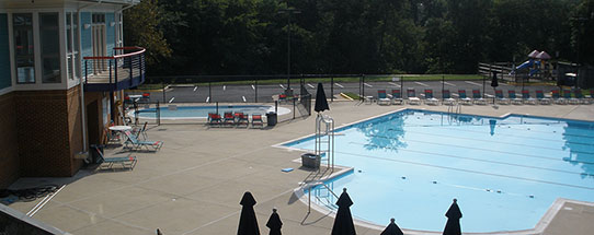 The Compton Village pool in the Summer